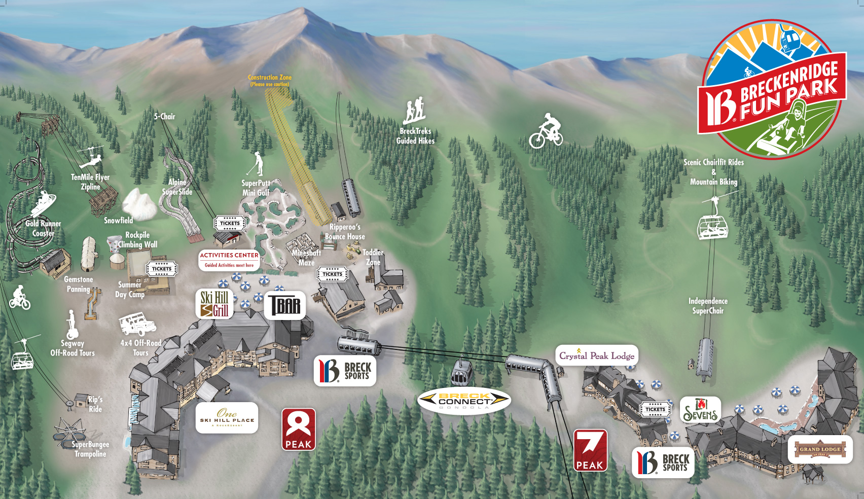 Area Maps | Range View Rentals @ Tannhauser Map Of Breckenridge Ski Area on
