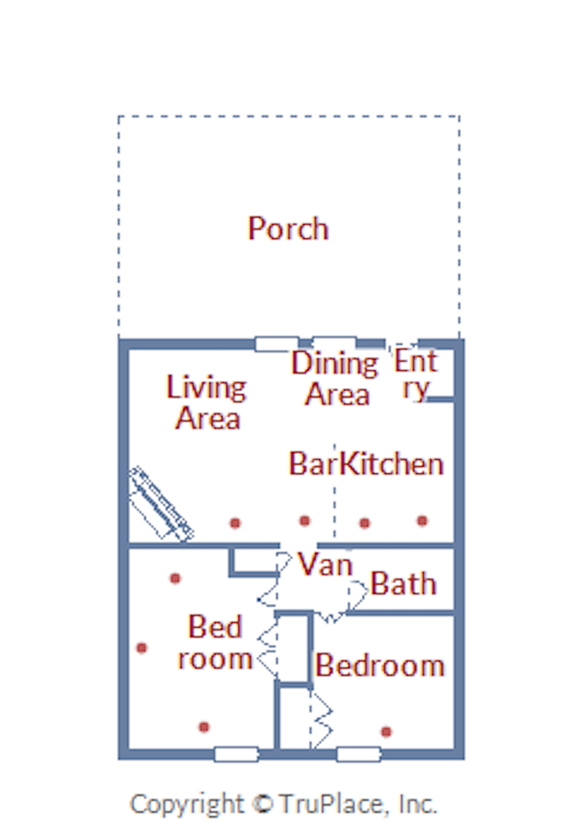 Floor Plan for Spacious 2 Bedroom Ski Condo