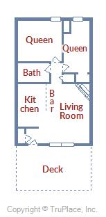 Floor Plan for Pet Friendly 2 Bedroom Condo with Incredible Breckenridge View