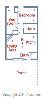 Floor Plan for Vintage 2 Bedroom Pet Friendly Condo