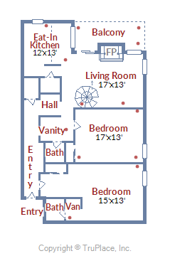 Floor Plan for The Perfect Ski - in Ski - Out Family Condo