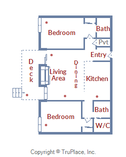 Floor Plan for Spacious, Updated Condo with Convenient Slope and Lift Access