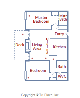 Floor Plan for Ski Cabin Condo with Peak 8 Access